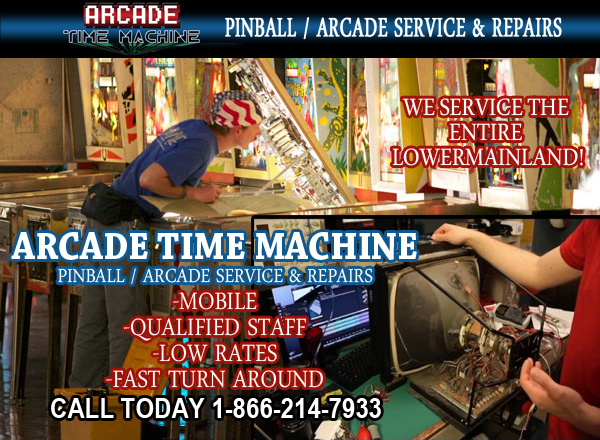 Arcade machine pinball machine repair servicing vancouver